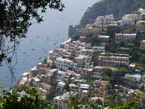 View over Positano, from the Montepertuso path
