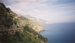 View from the road along the Amalfi Coast