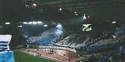 Photo of the Stadio Olimpico before the Rome Derby in courtesy of Footballinrome.co.uk