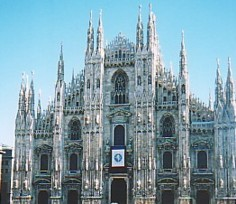 The facade of the Duomo
