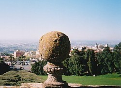 View from the Villa Aldobrandini over Frascati and the plain