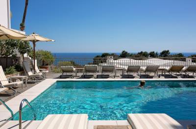 Swimming pool, Hotel Canasta, Capri