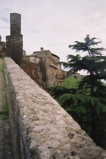 Along the walls of hill-town Orvieto, in Umbria