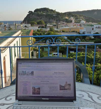At work on the island of Procida