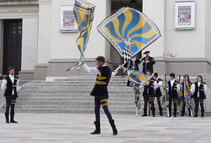 Flag-throwing in Conegliano