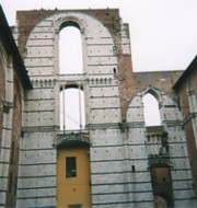 Unfinished cathedral walls