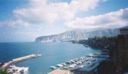 View over Marina Piccola, Sorrento