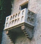 A balcony in Verona: definitely not Juliet's, but still a major tourist attraction. 'A rose by any other name...'.