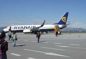 Ryanair: boarding a flight at Brescia Airport