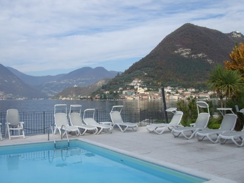 Swimming pool of the Hotel Rivalago, Lake Iseo