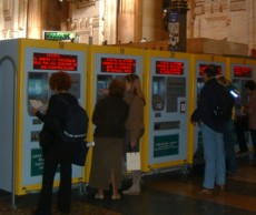 Ticket machines at Stazione Centrale, Milan