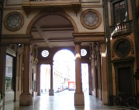 One of Turin's arcades