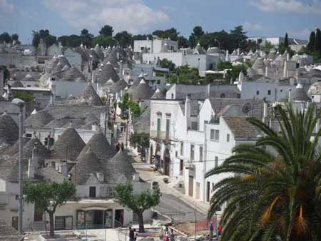 View over the trulli, Alberobello