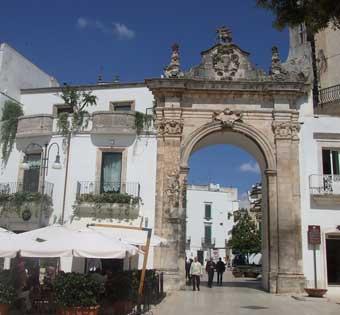 Town gateway, Martina Franca