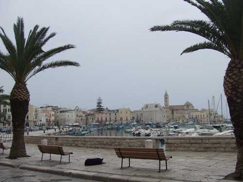 adratic ocean view from bari italy
