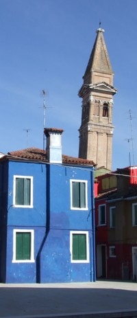 Burano's painted houses