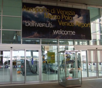 Passenger entrance, Marco Polo Airport, Venice